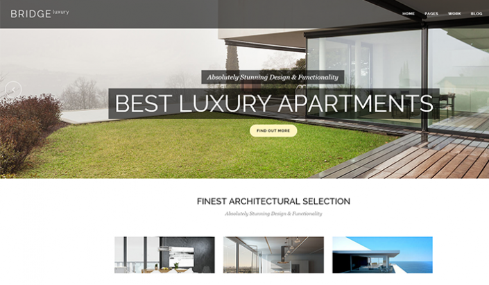 Wordpress web designer Luxury vacation rental accomodations
