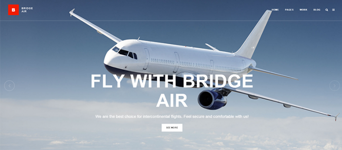 Airline manufacturer responsive Wordpress website (mobile and desktop)