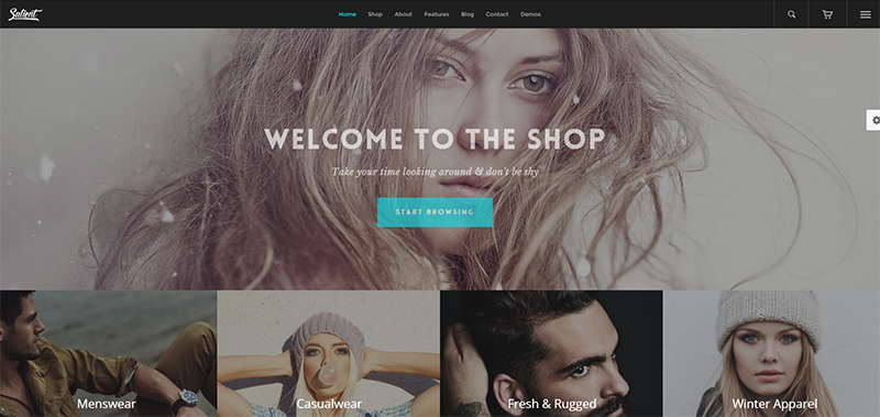 Fashion designer portfolio and online store built in wordpess