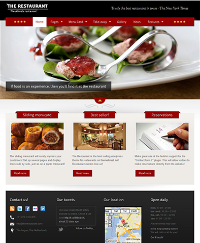 restaurant wordpress website
