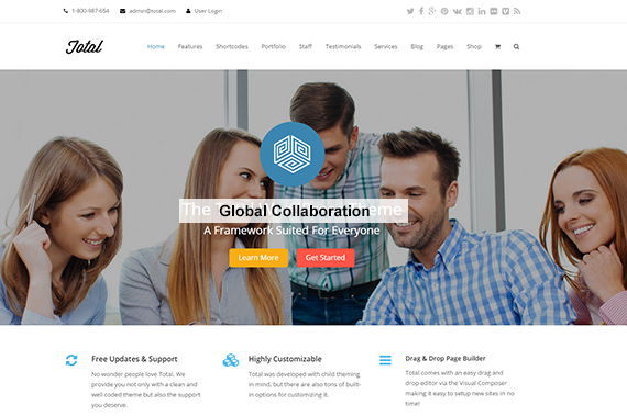 Local consultancy firm website built on Wordpress