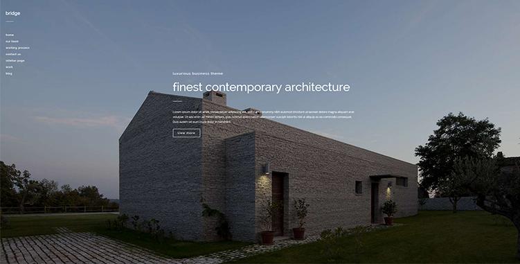Local architect firm wordpress website design