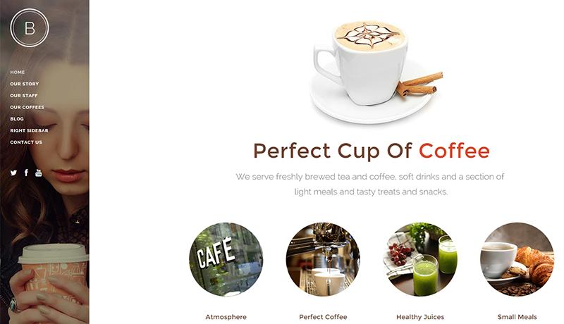 National cafe retailer website built on Wordpress