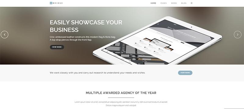 Brochure website built responsive in Wordpress